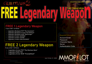 free legendary weapon